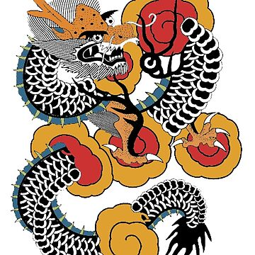 Asian Art Dragon Tattoo Style by Zehda