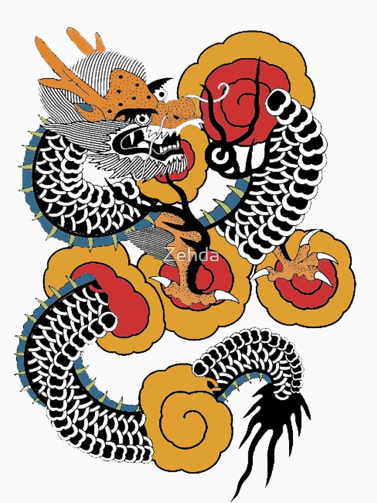 Asian Art Dragon Tattoo Style by Zehda