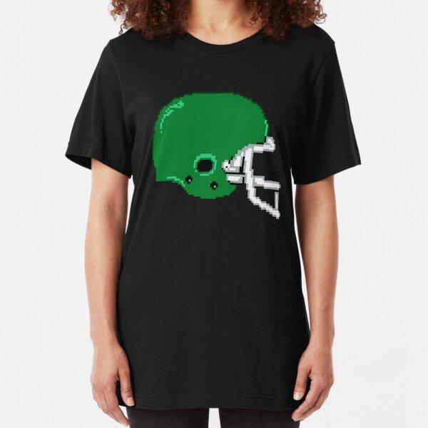 Retro 8-Bit Football Helmet Slim Fit T-Shirt