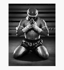 Muay Thai prayer  Photographic Print