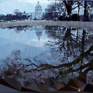 Capitol Reflections Low Poly Geometric Triangles by Vicky Brago-Mitchell