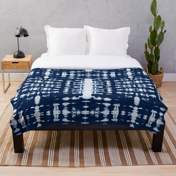 Kumo Indigo Shibori Throw Blanket