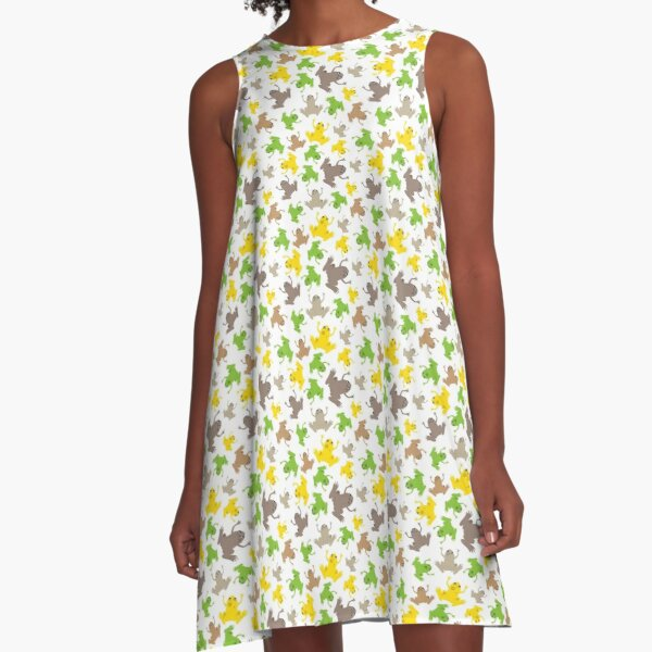 African Clawed Frogs Galore! A-Line Dress
