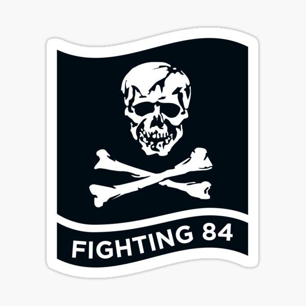 AUTOCOLLANT TOMCAT F14 BLASON FIGHTING 84 SQUADRON JOLLY ROGERS STICKER TA026