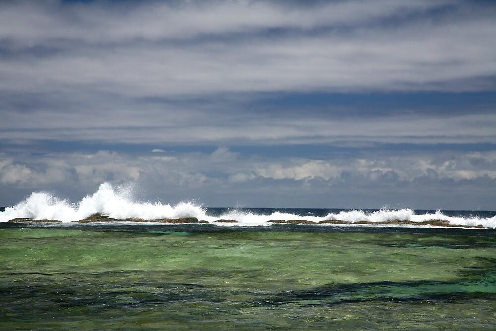 Reef break at Kings Beach by Randy Richards