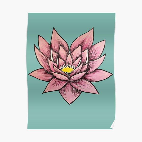 Pink Lotus Poster