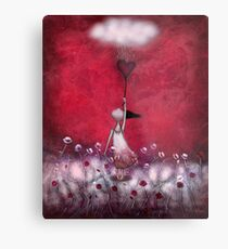 loVe protects me Metal Print