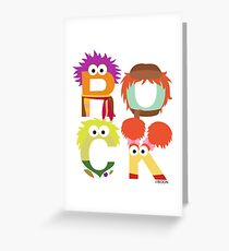 "A Fraggle ""ROCK"" Greeting Card"