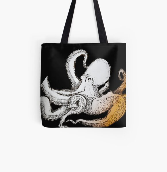 Cthulhu Octopus Squid All Over Print Tote Bag