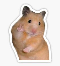 Peace Hamster Meme Sticker