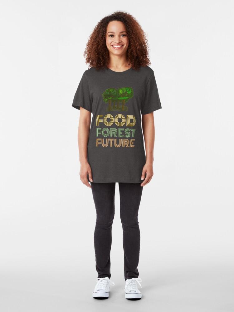 Alternative Ansicht von Food Forest Future Slim Fit T-Shirt