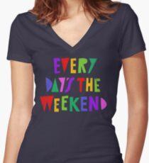 Week-end tous les jours T-shirt col V femme