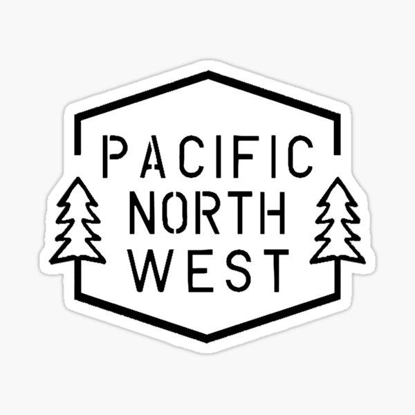 PNW Simple Hexagon - White Trees Sticker