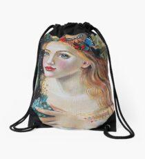 Fairy Dust, Kim Turner Art, Original Art Drawstring Bag