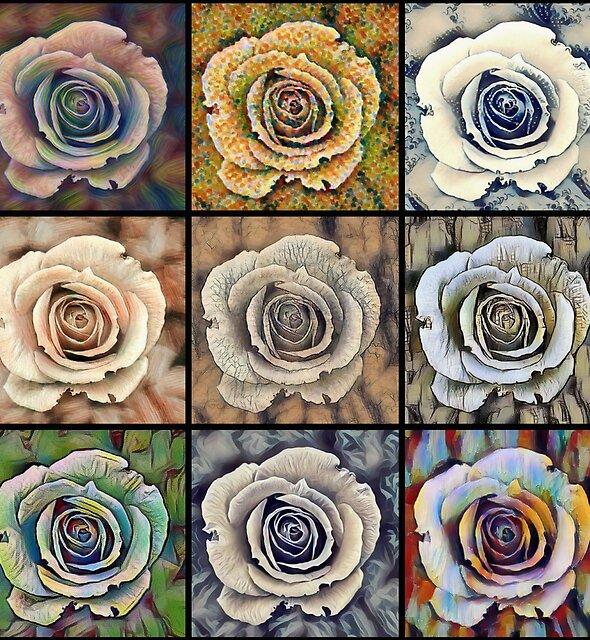 Pop Art Floral Rose Pattern by Printpix