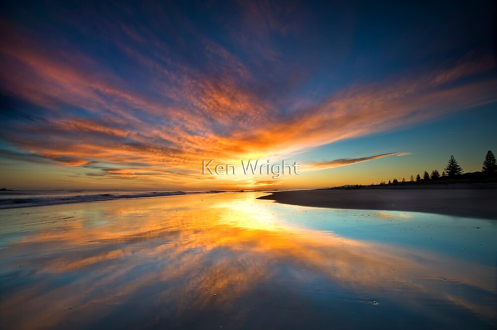 Orange blot dawn by Ken Wright