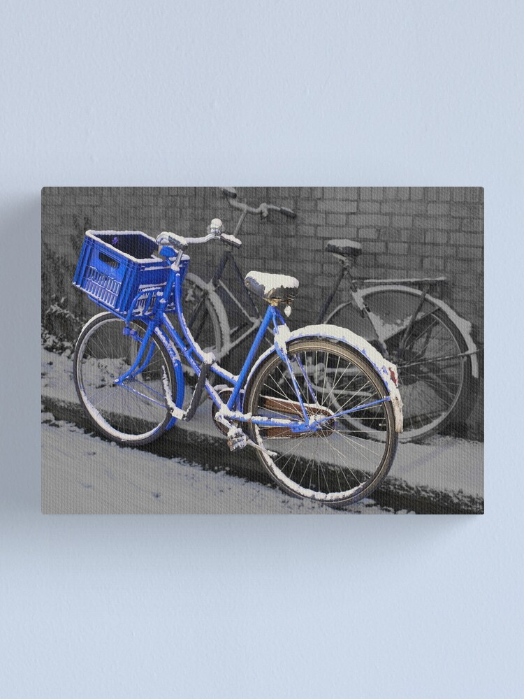 Alternate view of Painted blue Canvas Print
