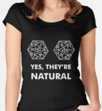 D20 Yes They're Natural Women's Fitted Scoop T-Shirt