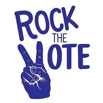 Rock the Vote- Blue by Designs111