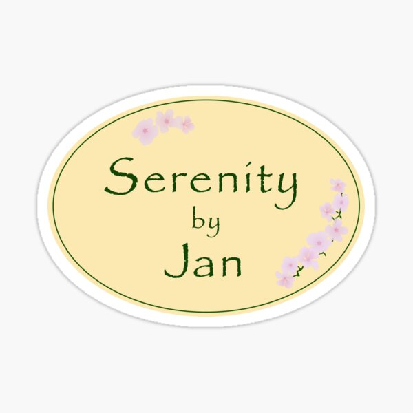 Serenity by Jan Candle Logo The Office TV Show Sticker