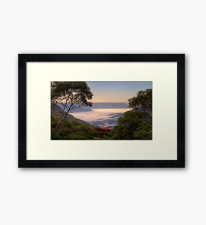 Mists Of Leura  - Blue Mountains World Heritage Area -The HDR Experience Framed Print