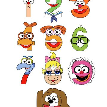 Muppet Babies Numbers by mbaboon