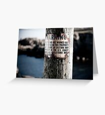 Lighthouse Keepers Warning Greeting Card