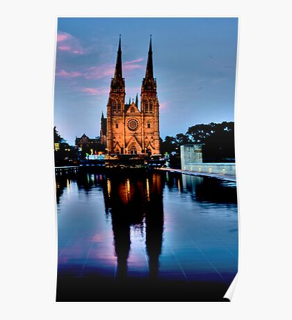 St Marys Cathedral - Sydney Festival First Night - Australia Poster