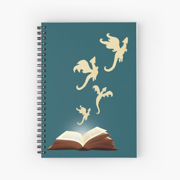 Book Dragons Spiral Notebook