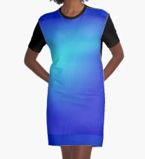 Blue Abstract Background Graphic T-Shirt Dress
