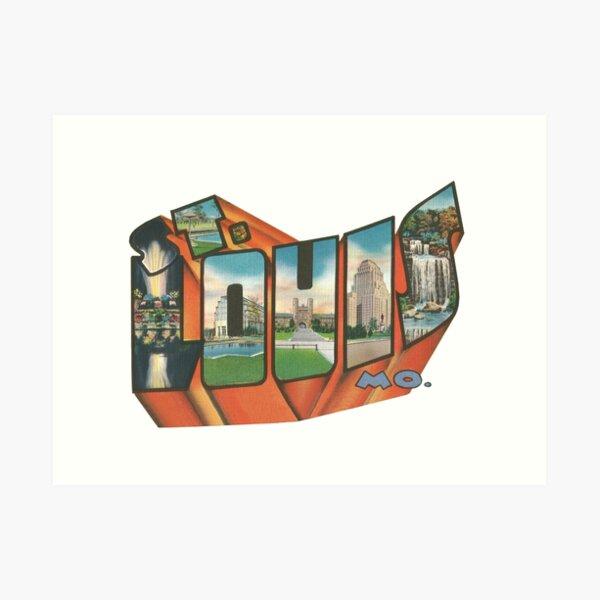 Vintage Big Letter - Saint Louis Missouri Art Print
