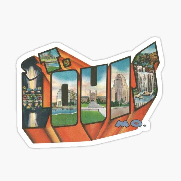 Vintage Big Letter - Saint Louis Missouri Sticker