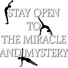 Stay open to the miracle and mystery…Yoga  by BodyIllumin