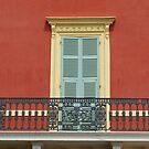 pretty balcony and shutters, Nice, France by BronReid