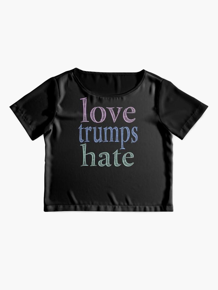 Alternate view of Love Trumps Hate Pretty Pastel Chiffon Top