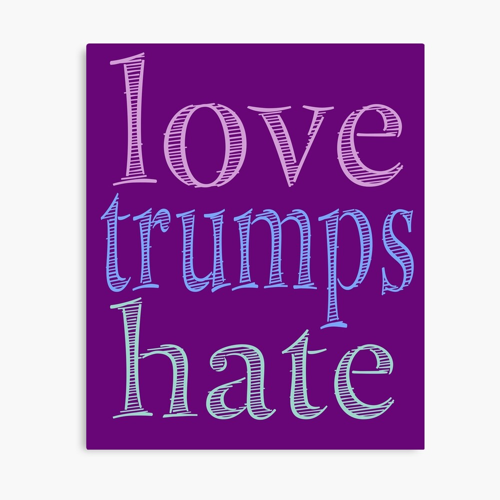 Love Trumps Hate Pretty Pastel Canvas Print