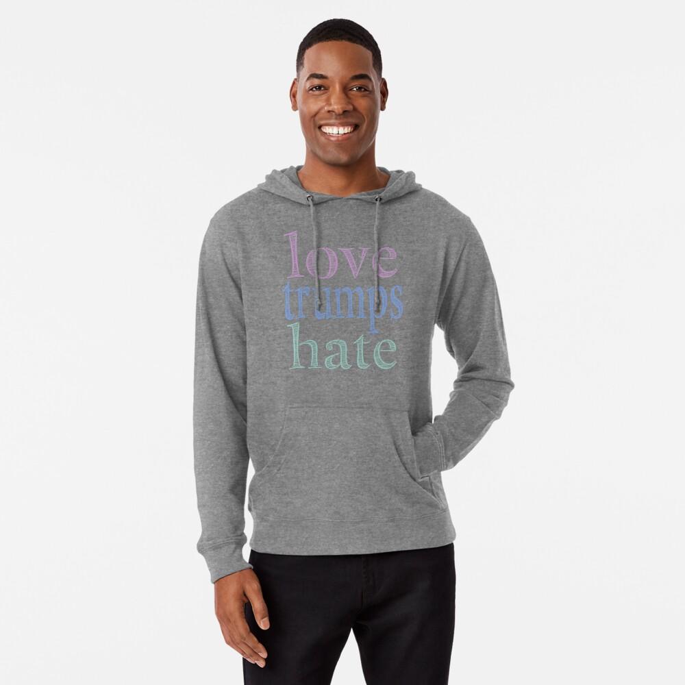 Love Trumps Hate Pretty Pastel Lightweight Hoodie