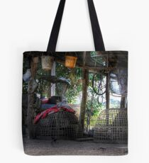 Farm outhouse and implements Tote Bag