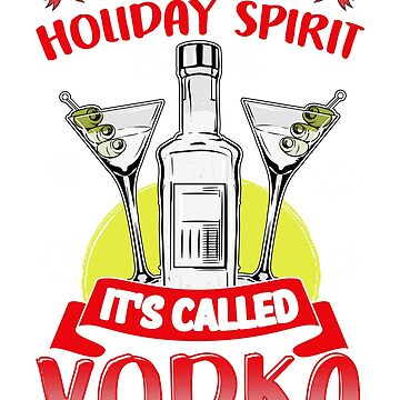 Christmas Holiday Spirit Vodka by frittata