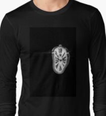 Salvador Dali Inspired Melting Clock Long Sleeve T-Shirt