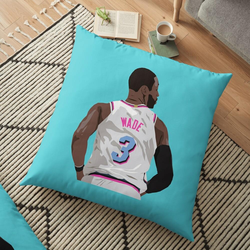 Dwyane Wade Back-To Floor Pillow