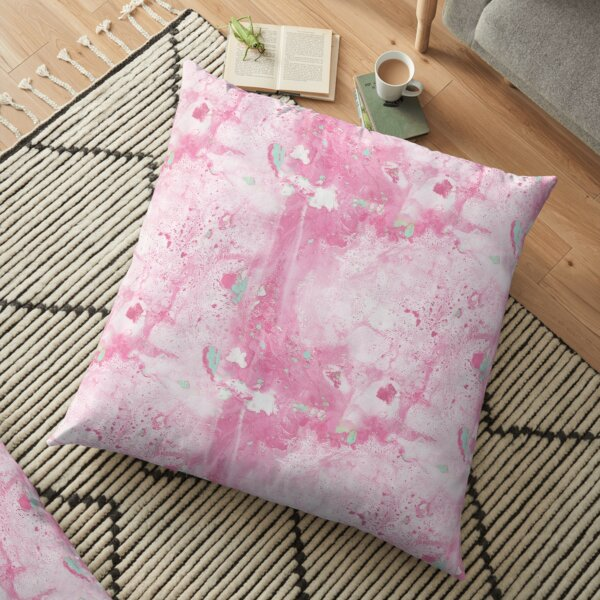 Pink and Mint Marble Floor Pillow