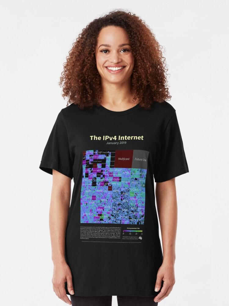 Alternate view of The IPv4 Internet - January 2019 Slim Fit T-Shirt