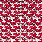 Valentines Wind Chime Heart Pattern by sandyspider
