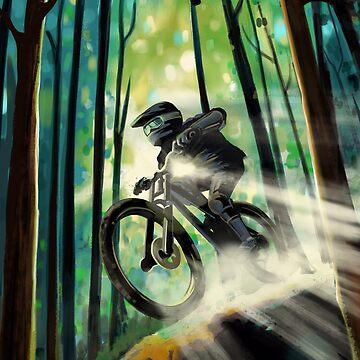 Forest Jump Ciclista de montaña de SFDesignstudio