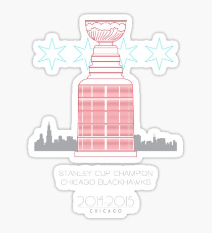 Stanley Cup Champion Blackhawks Sticker