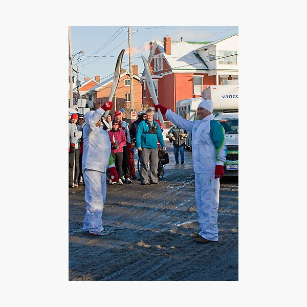 Olympic Flame Relay 1 Photographic Print