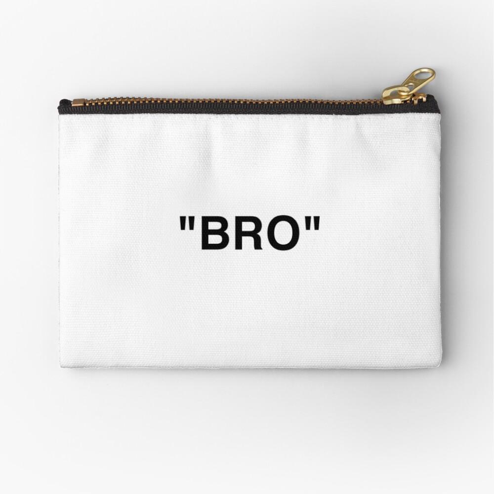 OFF WHITE Inspired Bro Zipper Pouch
