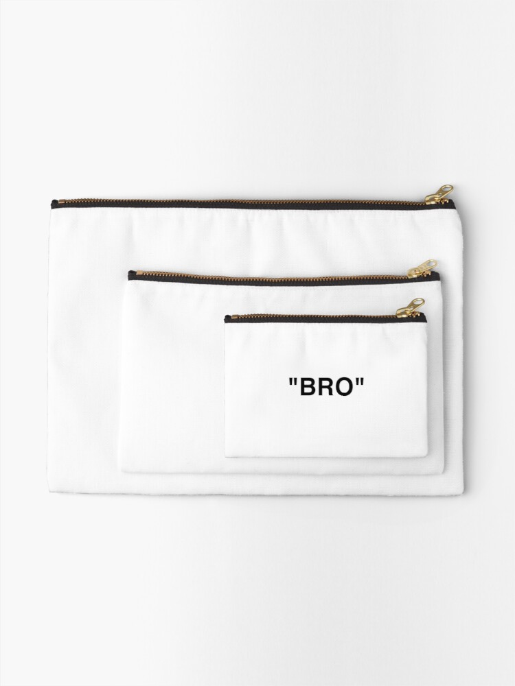 Alternate view of OFF WHITE Inspired Bro Zipper Pouch