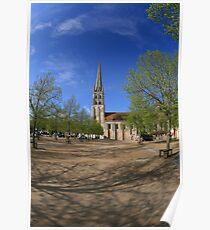 Abbey, St Savin Poster
